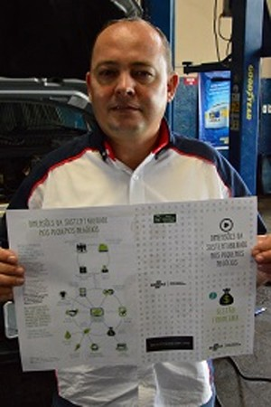 Luciano mostra infográfico de Gestão Financeira com dicas que podem ajudar muitas empresas como aconteceu na Oficina Zanata (Foto: Reprodução )