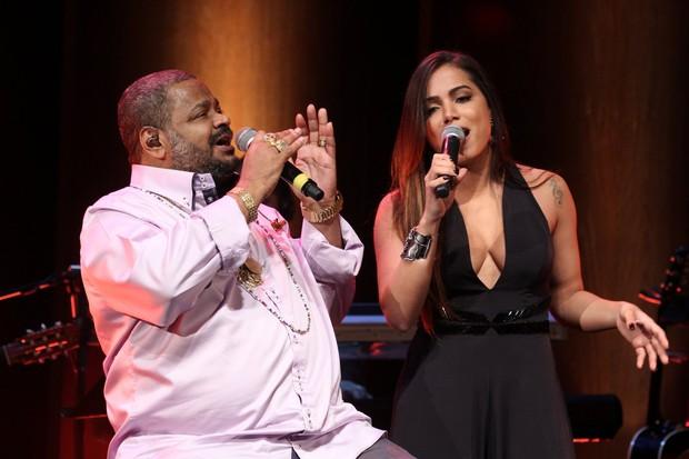 """f04b62ed2 Ao público que cantou e encantou ainda mais com a gente, só tenho a  agradecer. Noite mágica"""", disse Anitta no Instagram após a apresentação."""