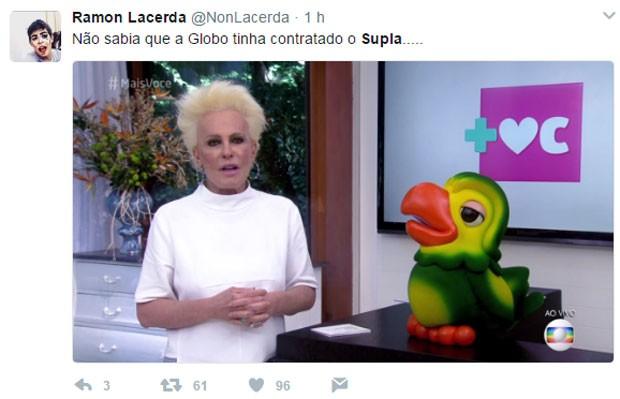 Ana Maria Braga é comprada com Supla (Foto: Reprodução)