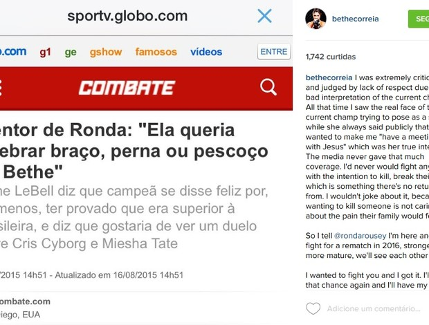 Bethe Correia instagram