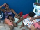 Posto especializado em dengue fica lotado (Reprodução/TV Santa Cruz)