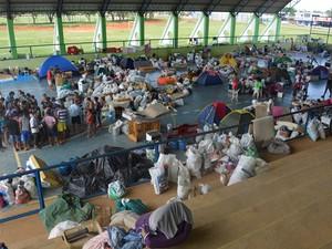 Acampamento MST é incendiado em Cacaulândia, RO (Foto: Jeferson Carlos/G1)