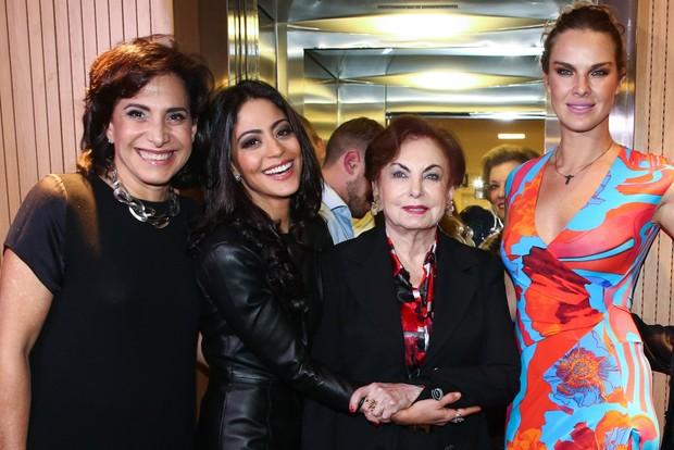 Totia Meireles, Carol Castro, Beatriz Segall e Letícia Birkheuer em estreia de musical em São Paulo (Foto: Manuela Scarpa/Photo Rio News)