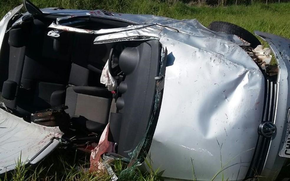 Acidente foi na rodovia Eliezer Montenegro Magalhães, em Vitória Brasil (Foto: Divulgação/Tony Ramos/Rádio Assunção de Jales )