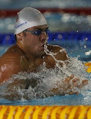 Felipe França vence os 100m peito do José Finkel (Foto: Vitor Silva/SSPress)