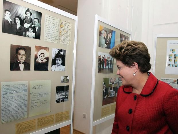 Na Bulgária, Dilma visitou museu em Gabrovo, onde nasceu o pai, Pedro, com exposição sobre as origens da família Rousseff (Foto: Roberto Stuckert Filho/PR)