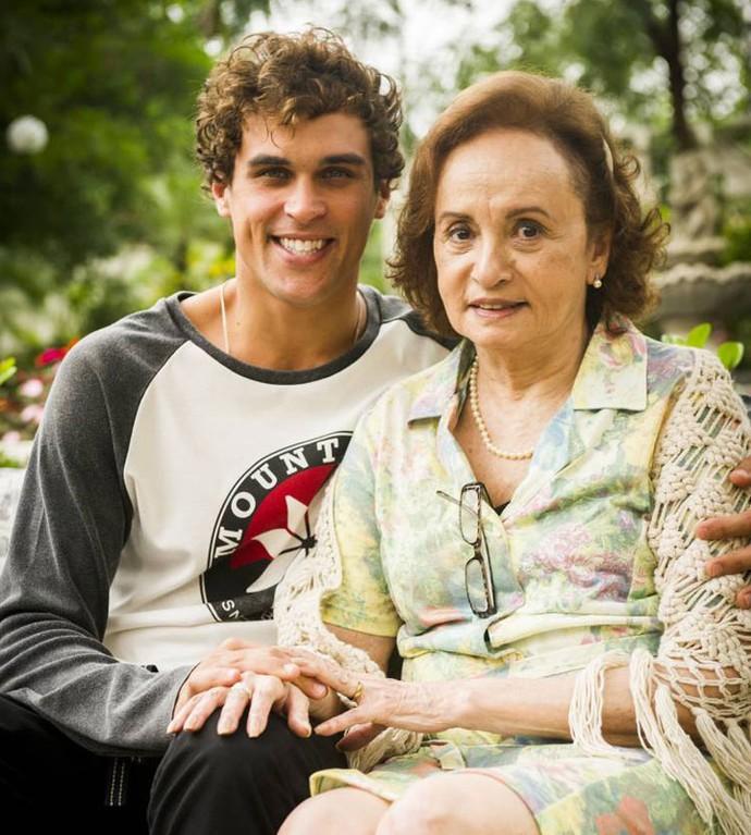 Joana Fomm e Felipe Roque irão contracenar juntos (Foto: João Miguel Junior/TV Globo)