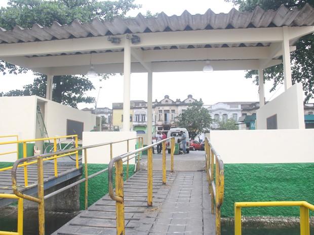 Terminal de acesso foi revitalizado (Foto: Ronaldo Andrade / Prefeitura de Santos)