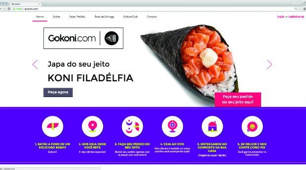 Site da Gokoni (Foto: Divulgação/Gokoni)