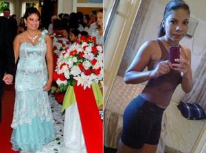 Nohana emagreceu 18 kg com dieta saudável e exercícios físicos (Foto: Arquivo pessoal)