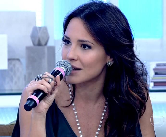 Juliana Knust volta à telinha cinco meses após nascimento de segundo filho (Foto: TV Globo)