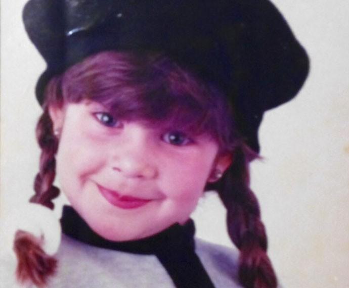 Fernanda Souza quando criança (Foto: Arquivo Pessoal)