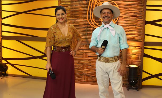 Shana Müller e Neto Fagundes (Foto: Nice Sordi/RBS TV)