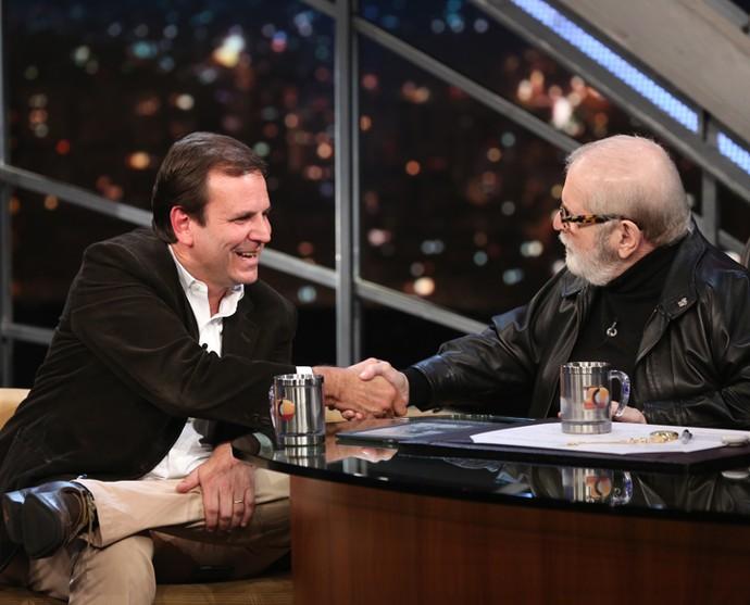 Jô Soares entrevista o prefeito do Rio de Janeiro (Foto: Carol Caminha/Gshow)