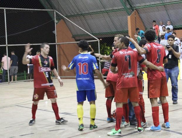 Cajuína X AABB - decisão do primeiro turno do Piauiense de Futsal (Foto: Aline Rodrigues)