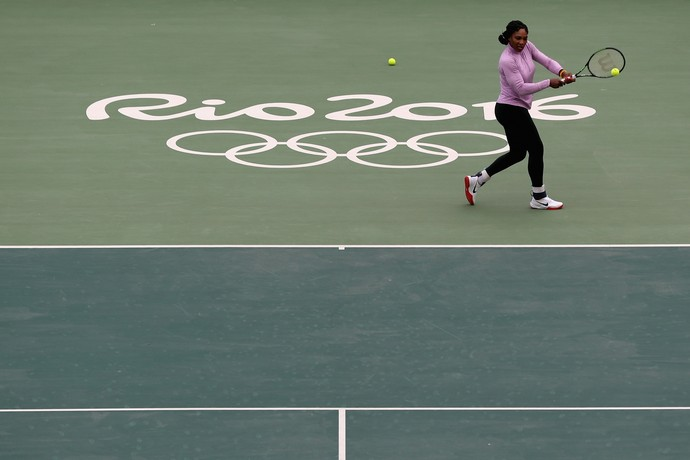 Serena Williams treinando Rio 2016 (Foto: Getty Images)
