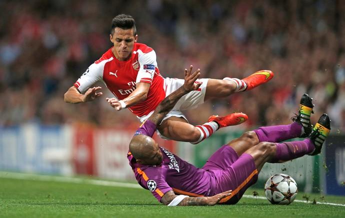 Felipe Melo, Arsenal X Galatasaray (Foto: Agência AFP)