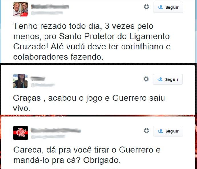 Reprodução Twitter torcedores Flamengo Guerreiro (Foto: Reprodução Twitter)