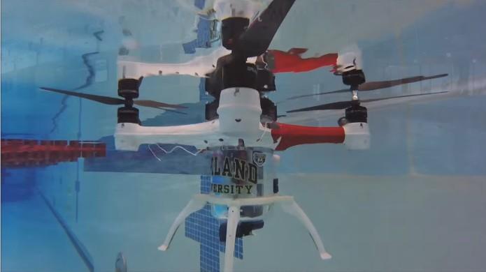 Loon Copter, drone que pode nadar (Foto: Divulgação/Universidade de Oakland)