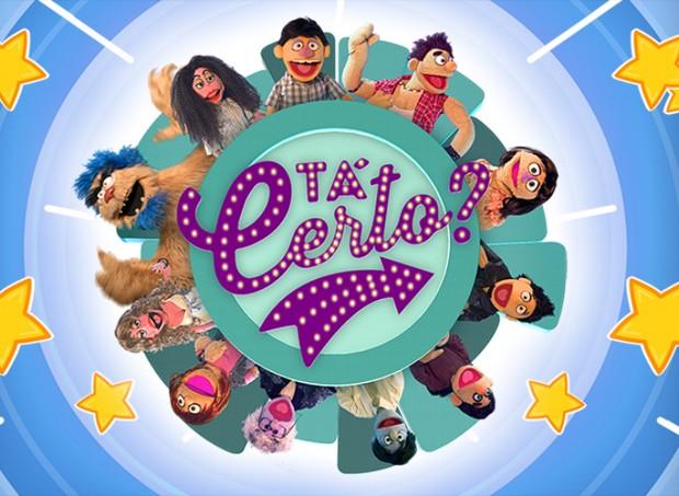 Logo do programa com os bonecos participantes ao redor (Foto: Divulgação / TV Cultura)