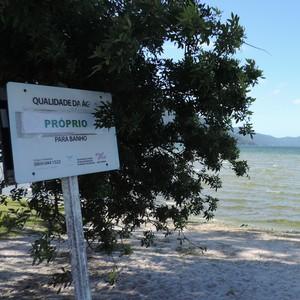 Aplicativo mostra balneabilidade de praias de SC (Valéria Martins/G1)
