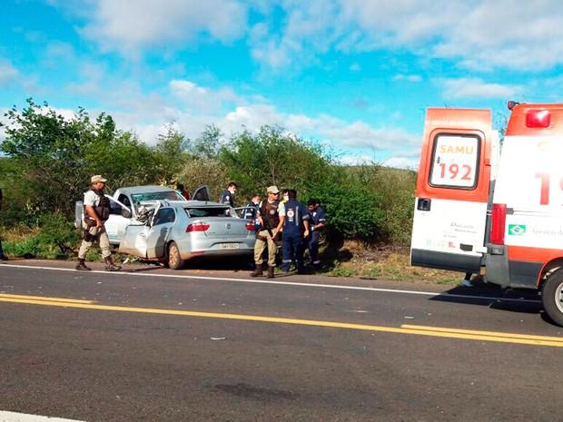 Quatro pessoas morreram no acidente (Foto: João Carvalho/Portal Jaguarari)