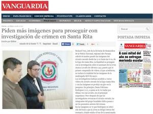 Jessica Lovatto jovem Paraguai jornal Vanguardia (Foto: Reprodução/Vanguardia)
