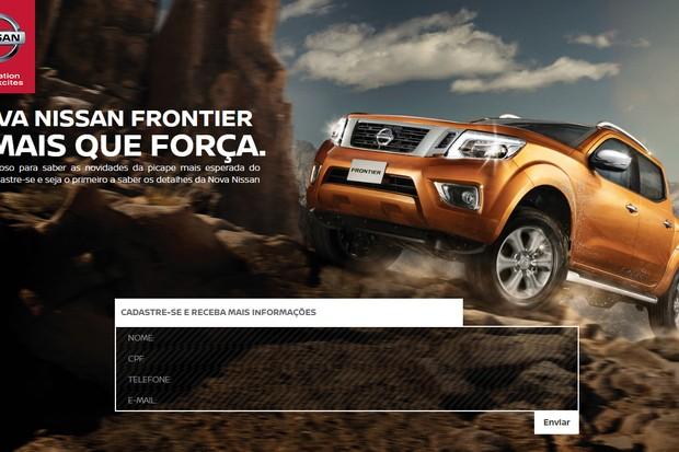 Site da nova Nissan Frontier (Foto: Reprodução)