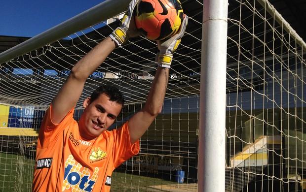 Bruno goleiro Criciúma (Foto: João Lucas Cardoso)