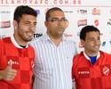 Apresentados, Dimba e Bruno Veiga viram opções para o ataque do Vila