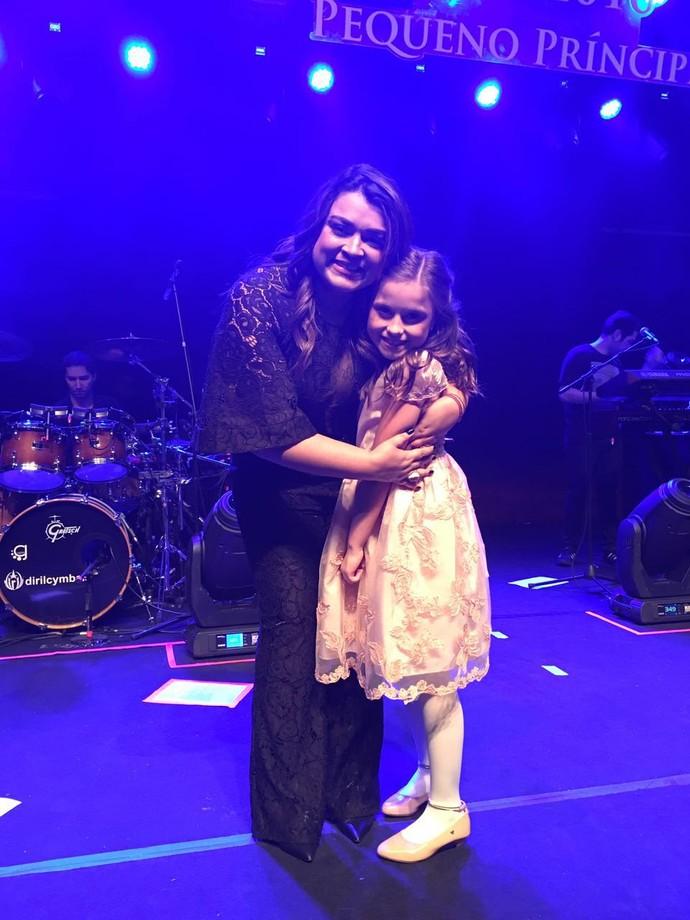 As cantoras fizeram festa no palco (Foto: arquivo pessoal)