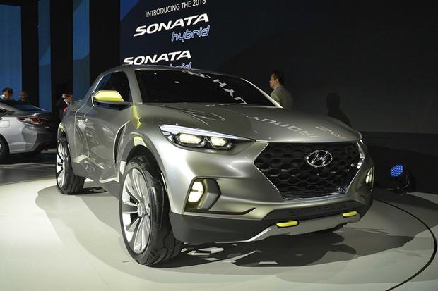 Hyundai Santa Cruz no Salão de Detroit 2015 (Foto: Newspress)