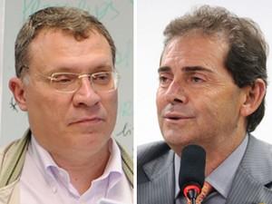 O procurador-geral eleitoral Eugênio Aragão e o deputado Paulinho da Força (Foto: Brizza Cavalcante e Leonardo Prado/Ag. Câmara)