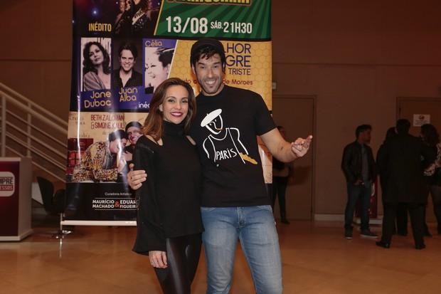 Flávia Monteiro e Daniel Del Sarto (Foto: Rafael Cusato/Brazil News)