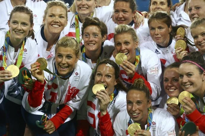 Grã-Bretanha, medalha de ouro, hóquei (Foto: Vasily Fedosenko/REUTERS)