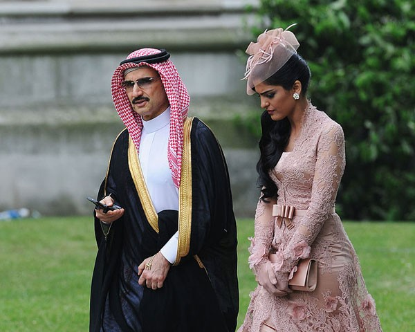 Príncipe Alwaleed Bin Talal e a princesa Ameerah (Foto: Getty Images)