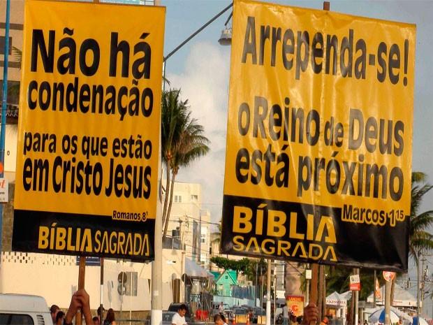 Evangélicos (Foto: Ruan Melo / G1)