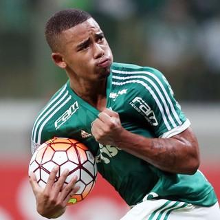 Gabriel Jesus, Palmeiras x Nacional, Libertadores 2016 (Foto: ALEX SILVA/ESTADÃO CONTEÚDO)