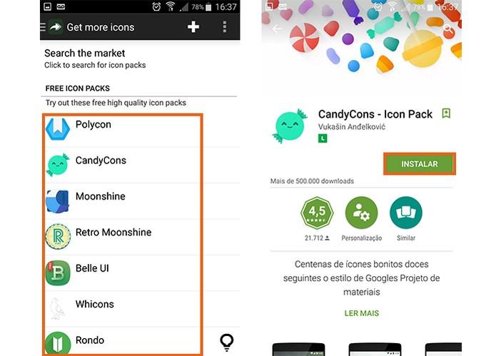 Instale o pacote de ícones no Android (Foto: Reprodução/Barbara Mannara) (Foto: Instale o pacote de ícones no Android (Foto: Reprodução/Barbara Mannara))