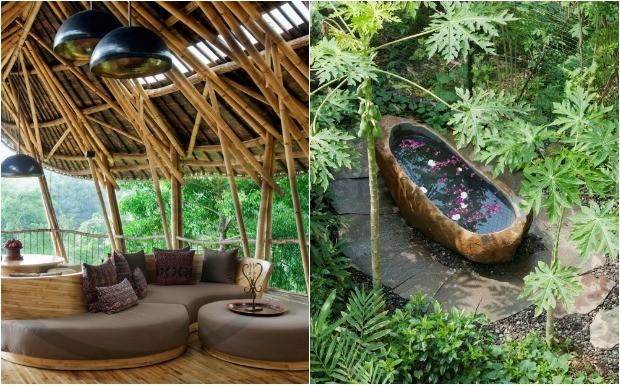Casas integradas  natureza no abrem mo do luxo (Foto: Divulga / Ibuku)