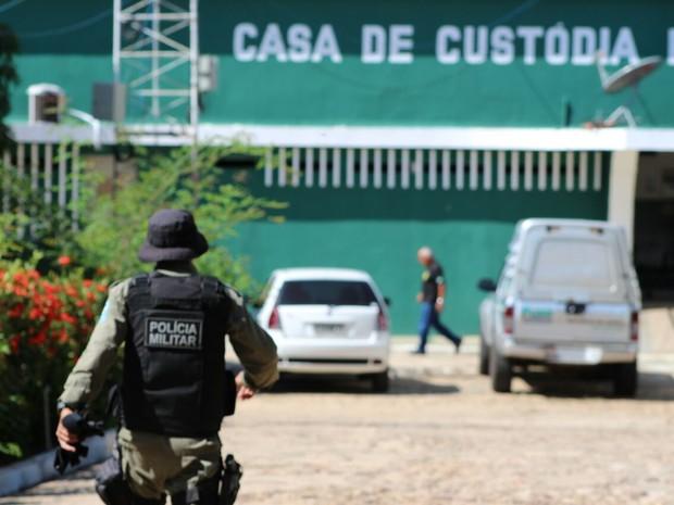 Casa de Custódia de Teresina registra motim (Foto: Fernando Brito/G1)