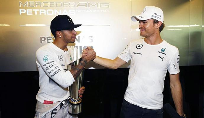 Lewis Hamilton Nico Rosberg GP de Abu Dhabi (Foto: Divulgação/Mercedes)