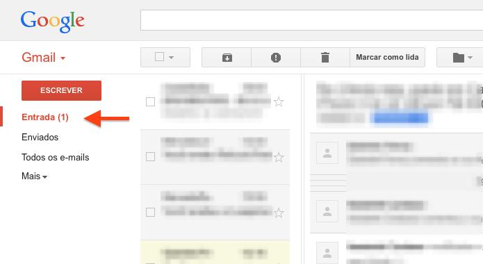 Acesse a sua caixa de entrada no Gmail (Foto: Reprodução/Helito Bijora)