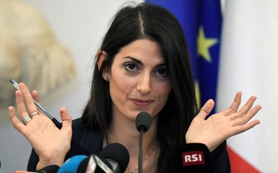 Virginia Raggi, prefeita de Roma. A política desmontou a candidatura da cidade a sediar a Olimpíada de 2024 (Foto: AFP)