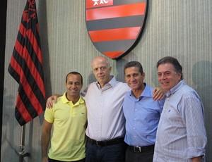 Jorginho Aílton Ferraz, Wallim Vasconcellos e Paulo Pelaipe flamengo (Foto: Richard Souza)