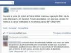 Homem é preso depois de criticar abordagem da PM no Facebook