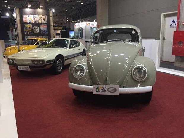 Espaço dos carros clássicos no Salão do Automóvel (Foto: André Paixão/G1)