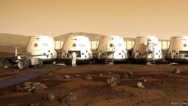 Viagem sem volta a Marte já tem mais de 100 mil inscritos  (Foto: Mars One/BBC)