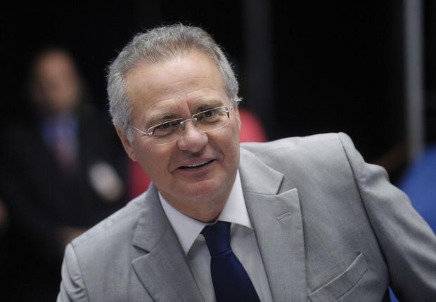 O presidente do Senado, Renan Calheiros (PMDB-AL) durante intervalo de sessão de julgamento do impeachment (Foto: Pedro França/Agência Senado)