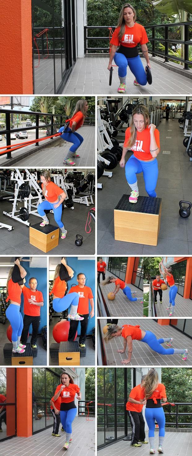 Mosaico Eu Atleta Treinamento funcional Baiano 9 (Foto: Sandro Gama)